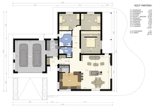 Projekt domu jednorodzinnego Skawina