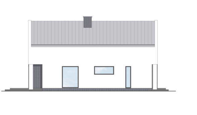 Projekt domu jednorodzinnego nowoczesnego - Kraków
