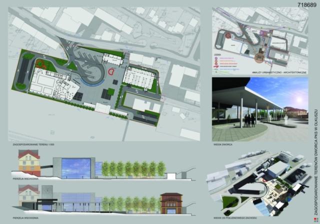 Projekt dworca PKS Olkusz