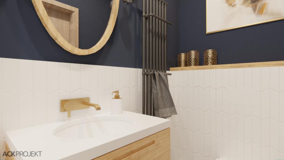 Łazienka Granatowa inspiracje